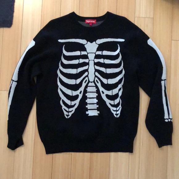 7ac1aedd9342 Supreme Sweaters | Bones Jacquard Knit Sweater | Poshmark